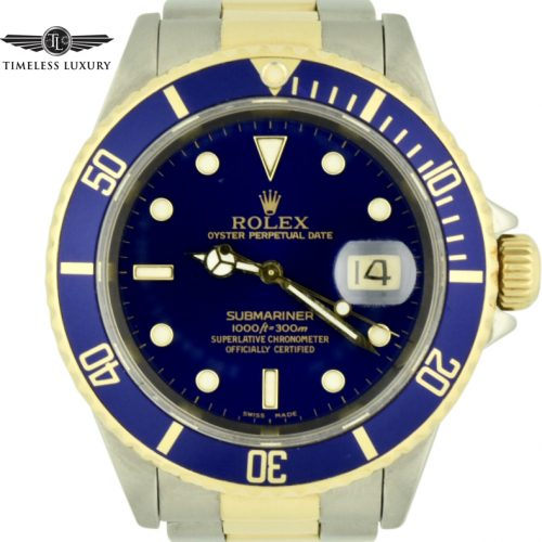 1997 rolex submariner 16613 blue dial for sale