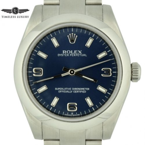 Rolex oyster perpetual 31 blue dial for sale