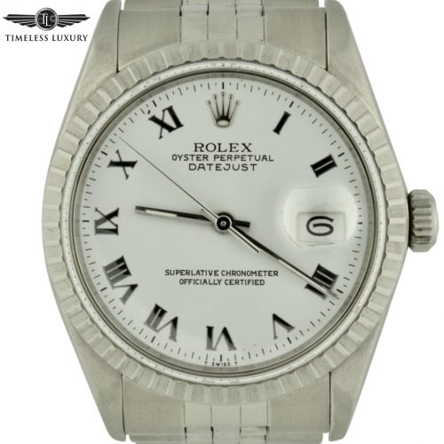 1987 Rolex Datejust 16030 White Roman Dial