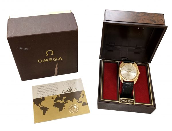 omega constellation cal 751 gold shell watch