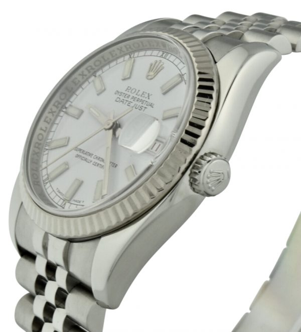 rolex datejust 116200 steel crown