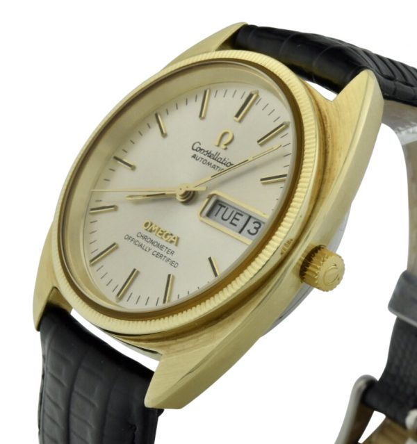 omega constellation gold plated watch