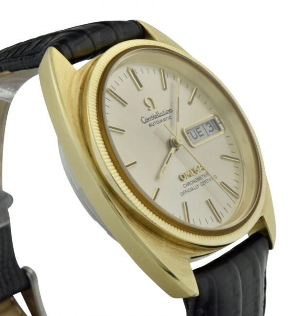 omega constellation c gold capped