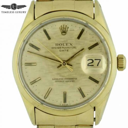 1970 Rolex Date 1550 Gold shell watch