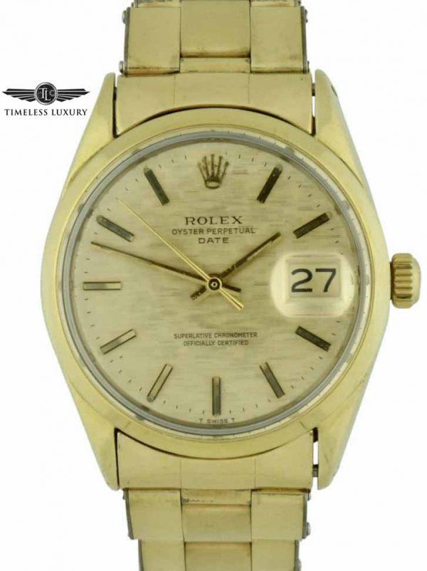 1970 Rolex Date 1550 Gold shell watch