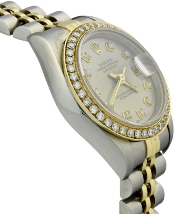 ladies rolex datejust factory diamond bezel