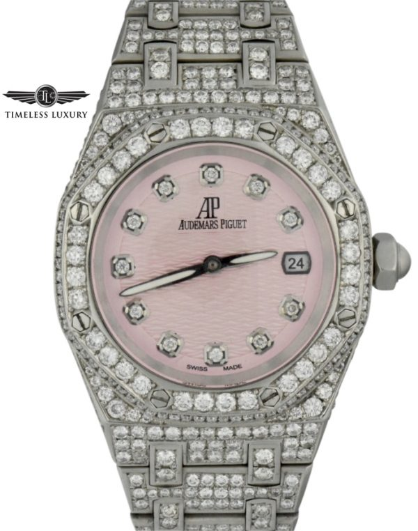 Audemars lady royal oak custom diamond watch