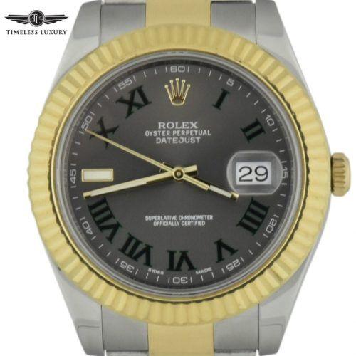 Rolex datejust II 116233 Wimbledon dial