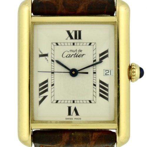 Cartier tank gold plated 2413