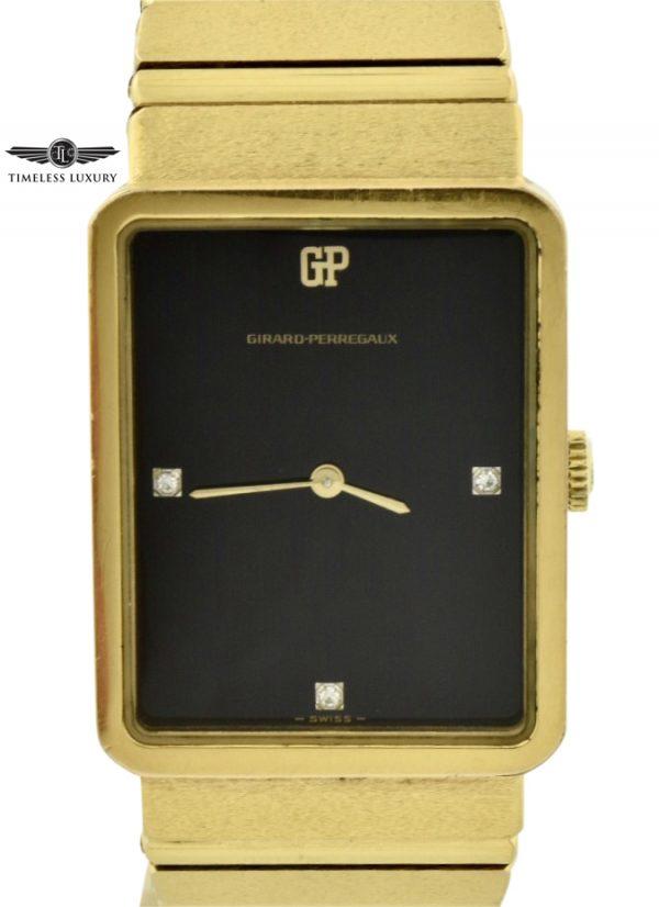 vintage Girard perregaux rectangular watch