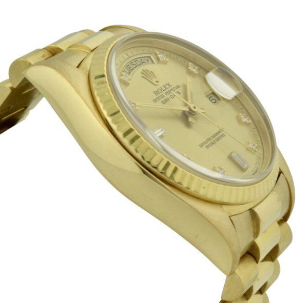 rolex 18038 diamond dial