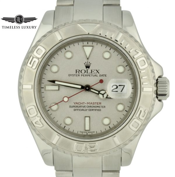 1999 rolex yachtmaster 16622 platinum dial watch