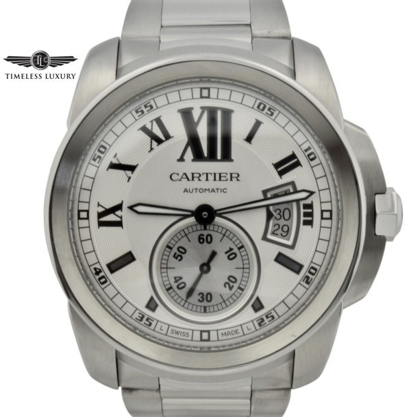 calibre de cartier stainless steel for sale
