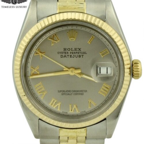 1969 rolex datejust 1601 steel & gold