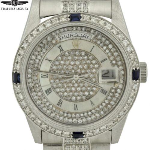 rolex day-date president 18239 custom diamond watch