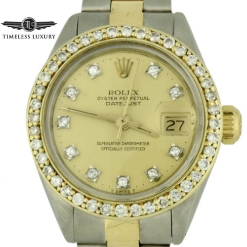1978 Ladies Rolex datejust 6917 diamond bezel watch