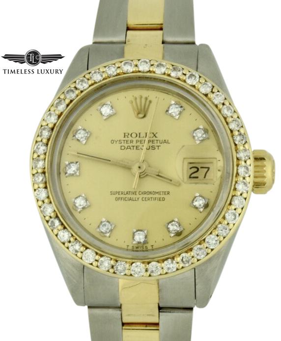 1978 Ladies Rolex datejust 6917 diamond bezel watch
