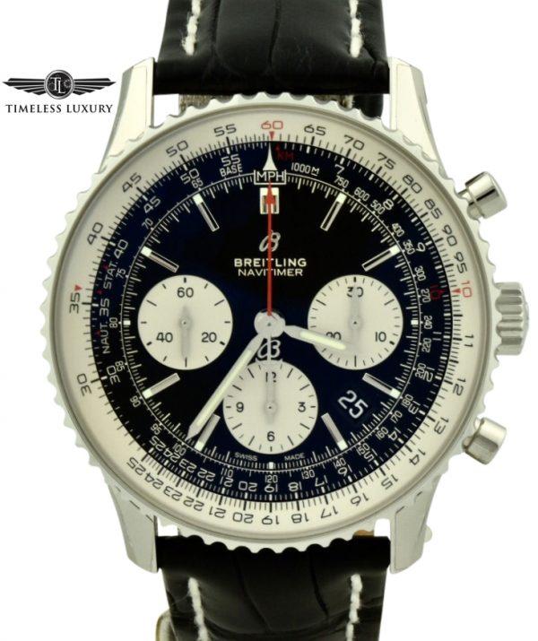 Breitling navitimer b01 ab0121 black dial