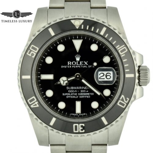 2012 rolex submariner 116610 black ceramic bezel for sale
