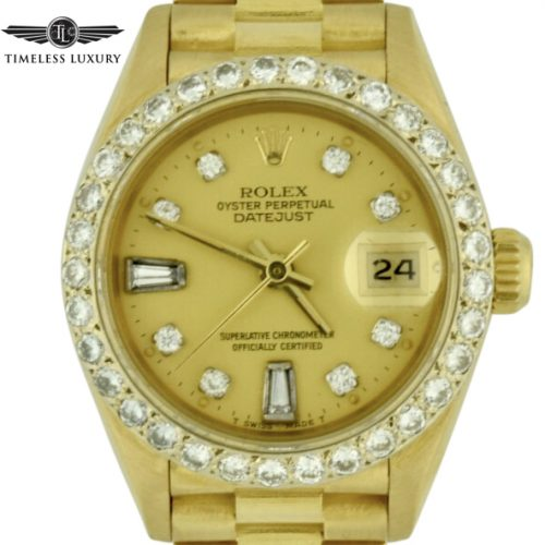 1989 Rolex President 69178 Diamond Bezel watch