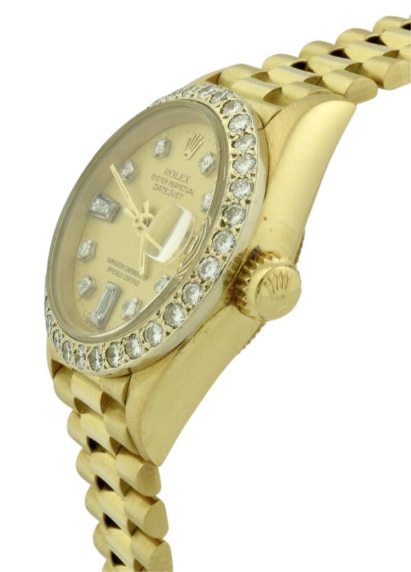 ladies rolex 69178 gold crown