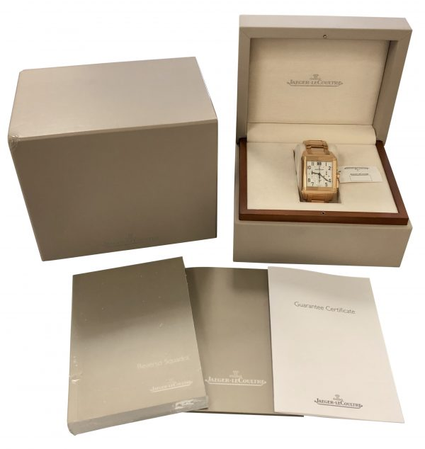 jaeger lecoultre riverso squadra 230.2.45 rose gold for sale