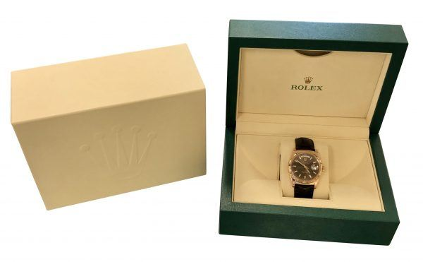 mens rolex day date 36mm 118135 chocolate dial for sale