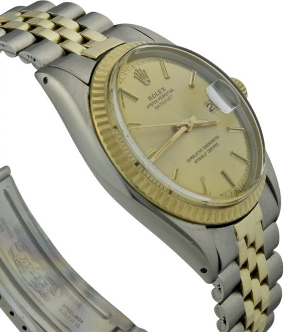 rolex datejust 1601 champagne pie pan dial