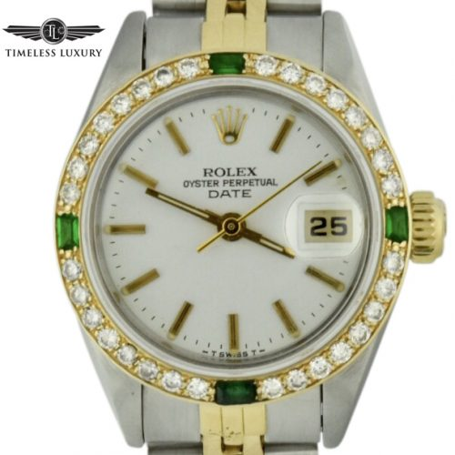 1983 ladies rolex datejust 69173 diamond bezel