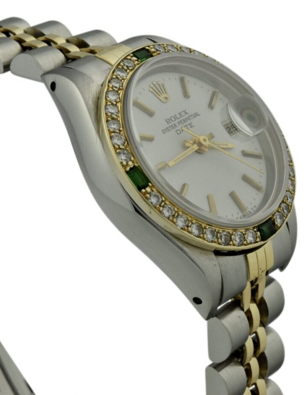 ladies rolex datejust 69173 diamond bezel