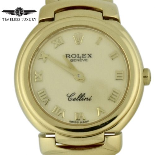 ladies rolex cellini 6621 yellow gold