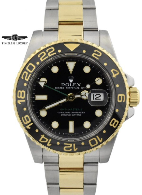 2007 rolex gmt-master 116713 steel & gold