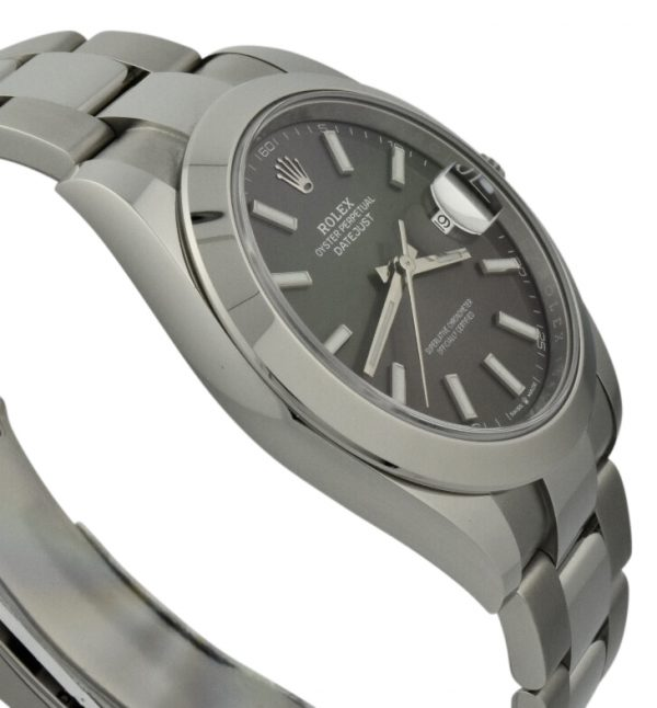 rolex datejust 41mm 126300 rhodium dial