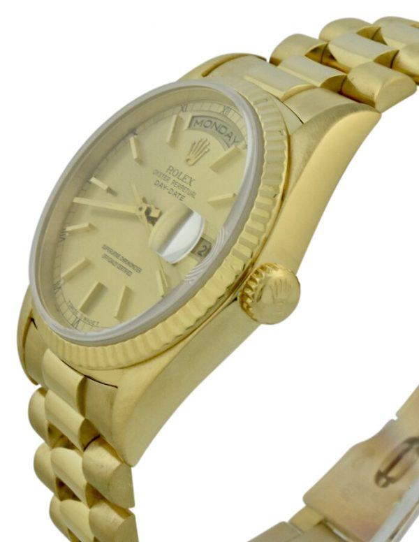 rolex 18238 gold crown