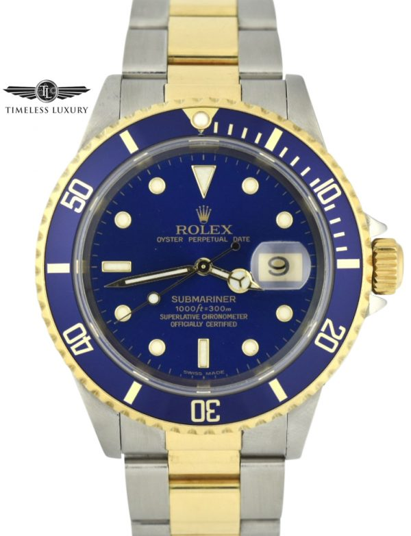 1999 Rolex Submariner 16613 blue dial for sale