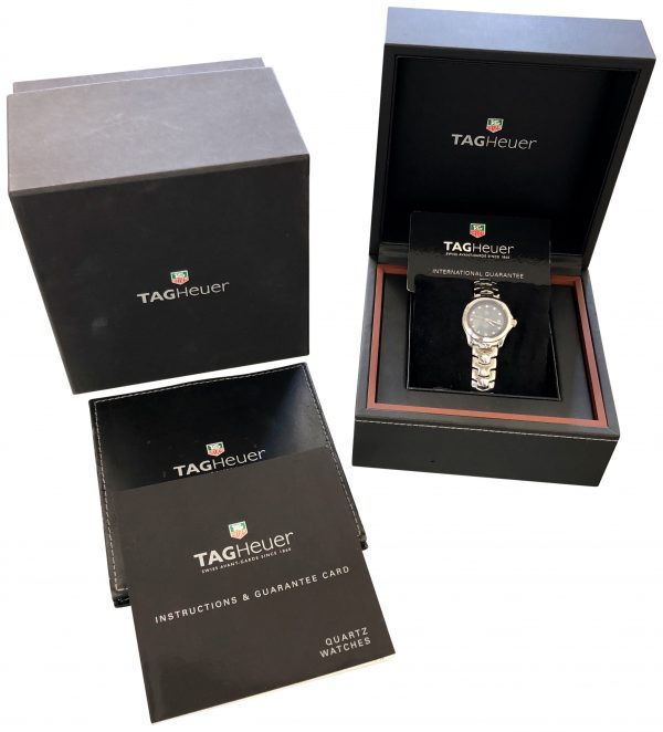 ladies tag heuer link wjf131c diamond dial for sale