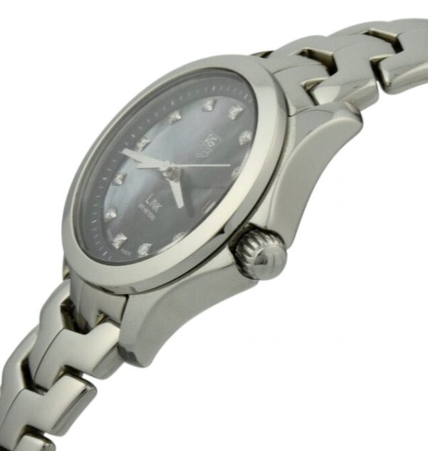 tag heuer link mother of pearl diamond dial