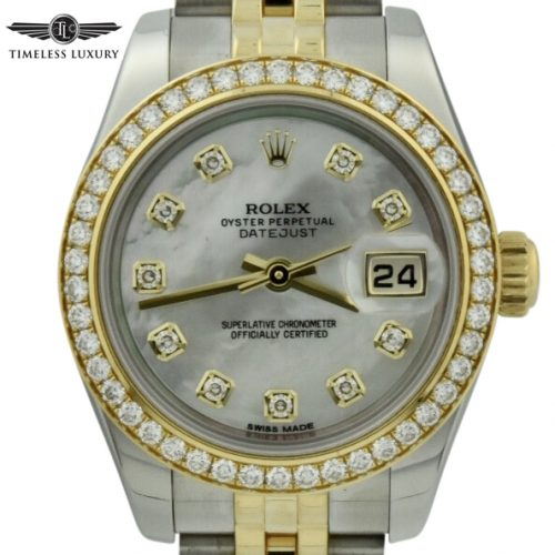 Ladies Rolex Datejust 26mm 179383 diamond dial