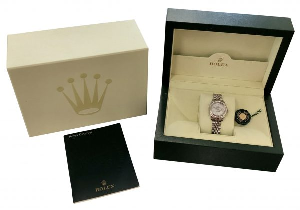 Rolex datejust 26mm 179374 mother of pearl diamond dial