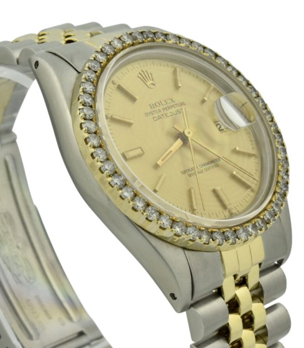 rolex datejust 36mm diamond bezel