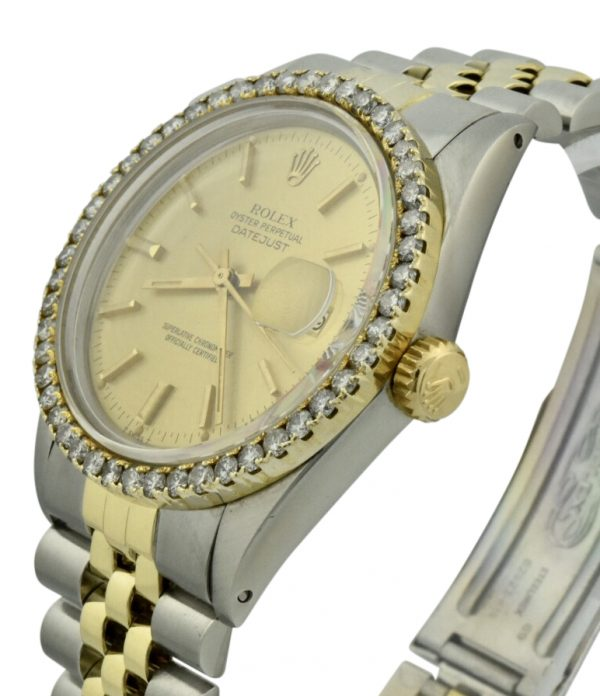 rolex datejust 16253 crown