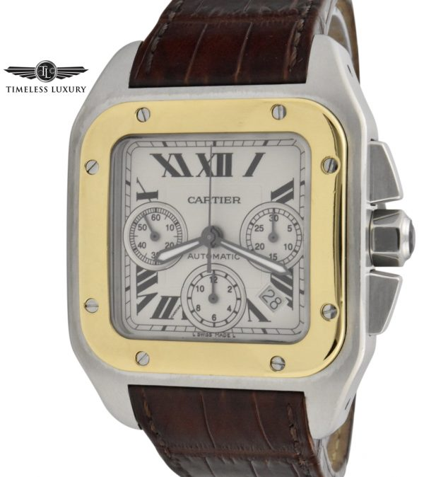 Cartier santos 100 xl chronograph 2740