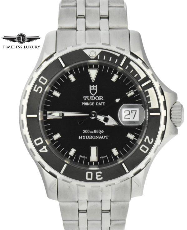 tudor prince date hydronaut 89190 black dial