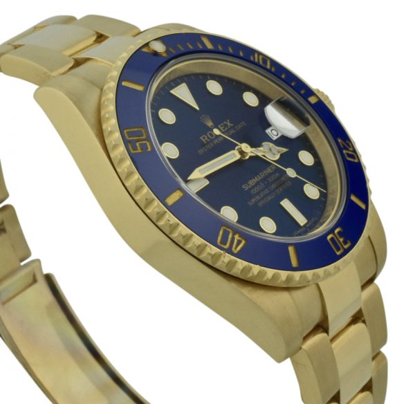 rolex submariner 18k gold blue dial