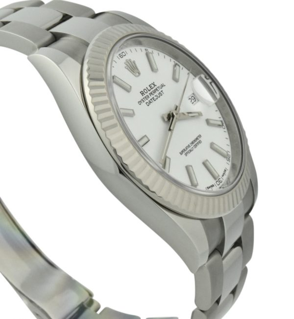rolex datejust 41mm white dial