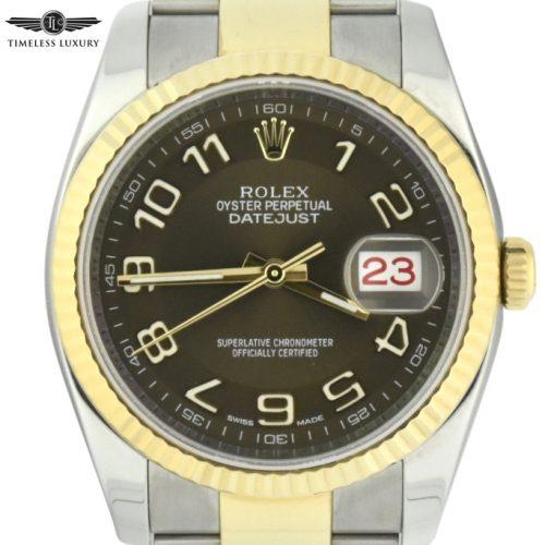 Rolex datejust 116233 bronze dial
