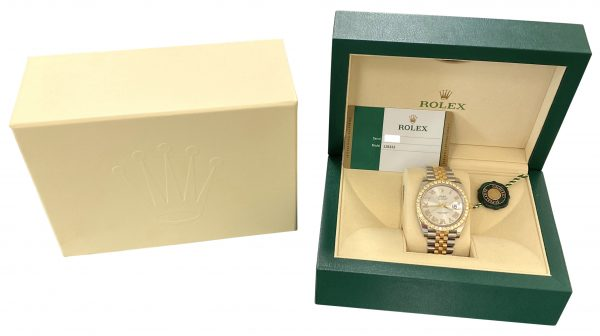 men's rolex datejust 41mm 126333 diamond bezel watch for sale