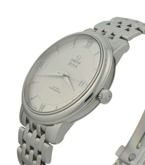 omega deville prestige silver dial