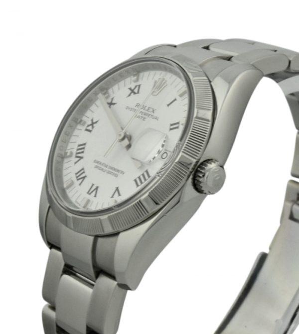 rolex date 115210 white dial