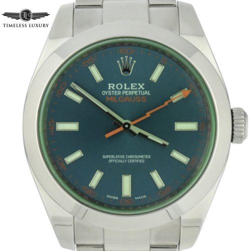 Rolex milgauss 116400gv blue dial